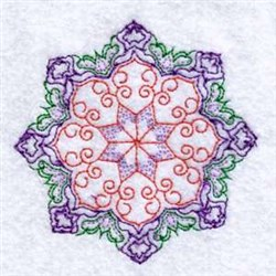 Star Circle embroidery design