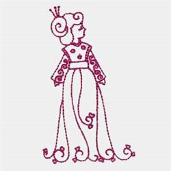 Standing Geisha embroidery design