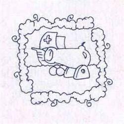 Cannon Ship embroidery design