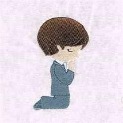 Praying Boy embroidery design