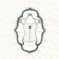 Frame Plain Corset embroidery design