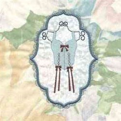 Frame Corset Bows embroidery design