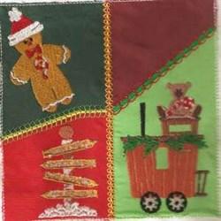 Train Quilt Square embroidery design