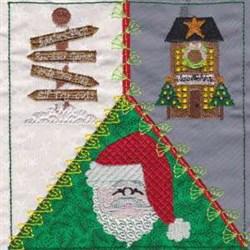 North Pole Quilt Square embroidery design