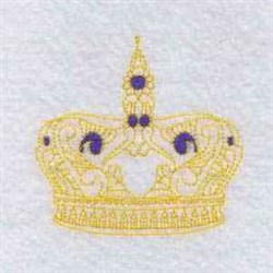 Royal Queen Crown embroidery design