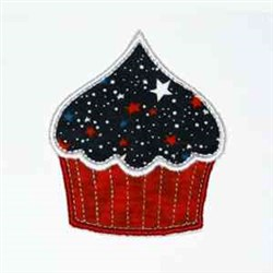 Space Cupcake embroidery design