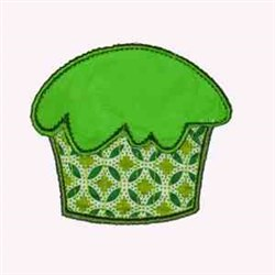 St. Patricks Cupcake embroidery design