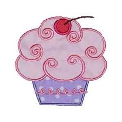Cherry Cupcake embroidery design