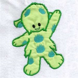 Waving Monster embroidery design