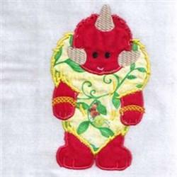 Vine Monster embroidery design