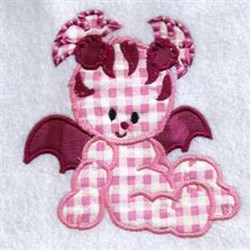 Wing Monster embroidery design