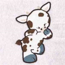 Shy Cow embroidery design