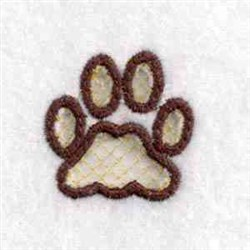 Charm Pawprint embroidery design