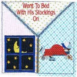 Stockings Quilt Square embroidery design