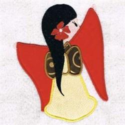 Flower Geisha Applique embroidery design