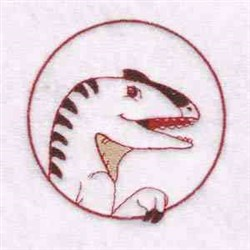 Velociraptor Circle embroidery design
