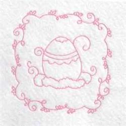 Redwork Vine Egg embroidery design