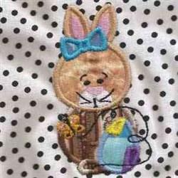 Easter Bunny Applique embroidery design