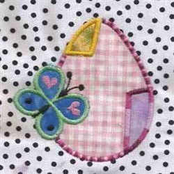 Butterfly Egg Applique embroidery design