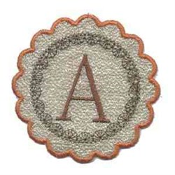 fallbanner_circle_a embroidery design