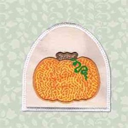 Pumpkin Towel Topper embroidery design