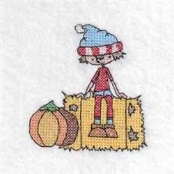 Boy Hay Color embroidery design