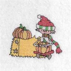 Boy Pumpkin Color embroidery design