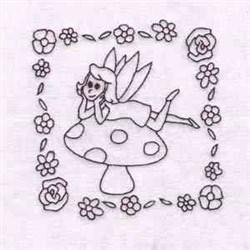 Fantasy Toadstool embroidery design