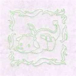 Fire Dragon embroidery design