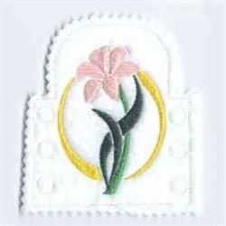Tea Light Flower embroidery design