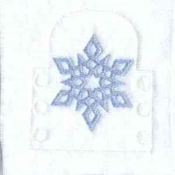 Winter Tea Light embroidery design