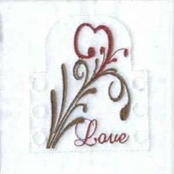Love Tea Light embroidery design