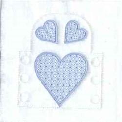 Heart Tea Light embroidery design