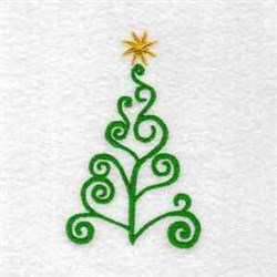 Swirl Tree embroidery design