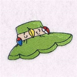 Fishing Hat embroidery design