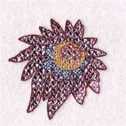 Bloom Mylar embroidery design