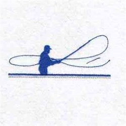 Fly Fishing Silhouette embroidery design
