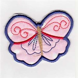 Butterfly Welcome Banner embroidery design