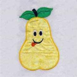 Pear Applique embroidery design