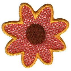 FSL Pumpkin Tea Light Sunflower embroidery design