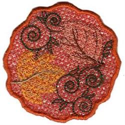 FSL Pumpkin Tea Light Top embroidery design
