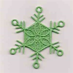 FSL Green Snowflake embroidery design