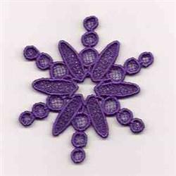 FSL Purple Snowflake embroidery design