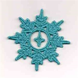 FSL Teal Snowflake embroidery design