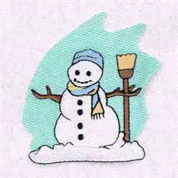 Broom Snowman embroidery design
