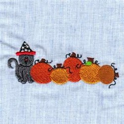 Halloween Pumpkins embroidery design