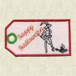 Witch Tag embroidery design