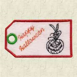 Pumpkin Tag embroidery design