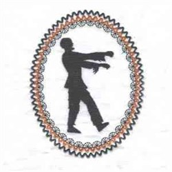 Halloween Zombie Frame embroidery design