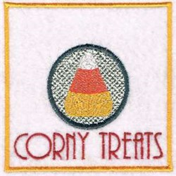 Corny Treats embroidery design